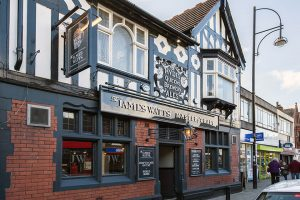 the james watts pub in Cheadle, Cheshire